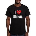 I Love Illinois Men's Fitted T-Shirt (dark)