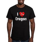 I Love Oregon Men's Fitted T-Shirt (dark)