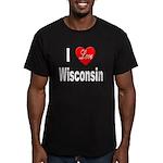 I Love Wisconsin Men's Fitted T-Shirt (dark)