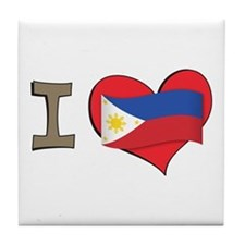 I heart Philippines Tile Coaster