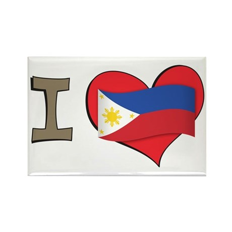 I heart Philippines Rectangle Magnet (100 pack)