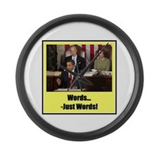 """""""Just Words"""" Large Wall Clock"""