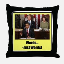"""""""Just Words"""" Throw Pillow"""