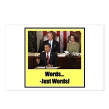 """""""Just Words"""" Postcards (Package of 8)"""