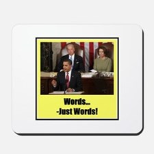 """Just Words"" Mousepad"