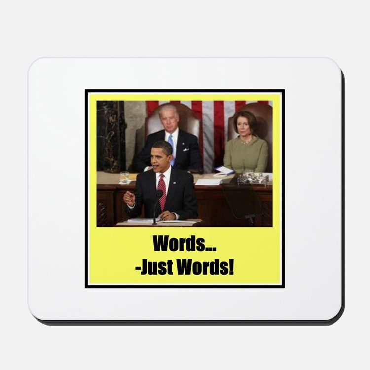 """""""Just Words"""" Mousepad"""