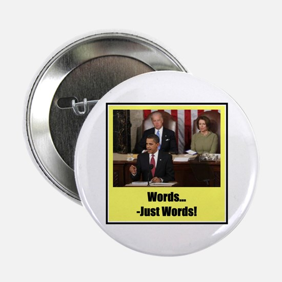 """""""Just Words"""" 2.25"""" Button"""