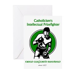 Intellectual Prizefighter Greeting Cards (Package