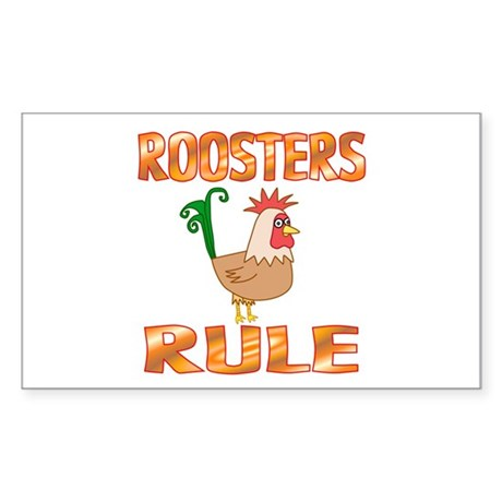 Rooster Rectangle Sticker