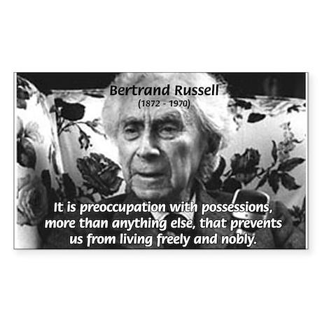Bertrand Russell Philosophy Rectangle Sticker