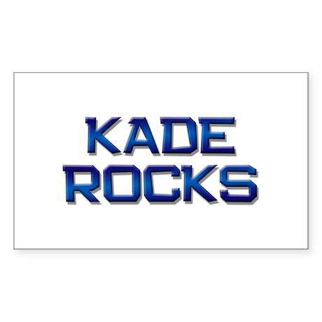kade rocks Rectangle Sticker