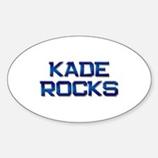 kade rocks Oval Decal
