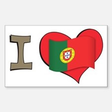 I heart Portugal Rectangle Decal
