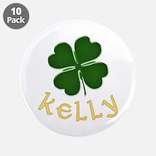 "Kelly Irish 3.5"" Button (10 pack)"