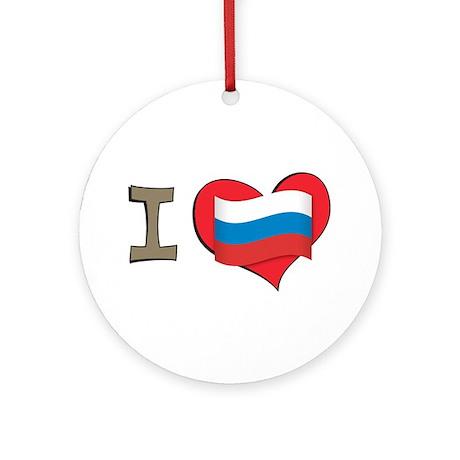 I heart Russia Ornament (Round)
