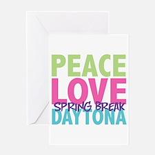 Peace Love Spring Break Daytona Greeting Card