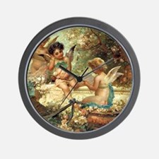 Victorian Angels by Zatzka Wall Clock