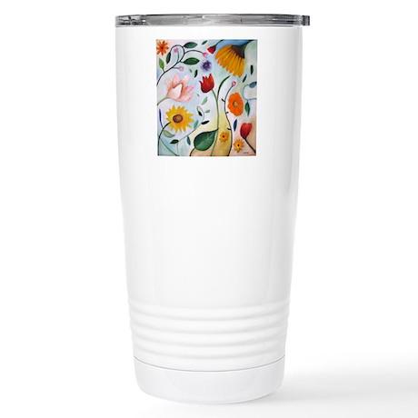 FLOWERS Stainless Steel Travel Mug