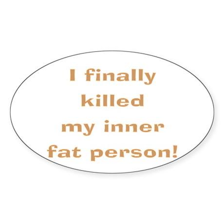 Dead fat Oval Sticker (10 pk)