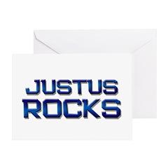 justus rocks Greeting Card