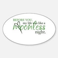 moonless night - green Oval Decal
