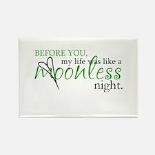 moonless night - green Rectangle Magnet