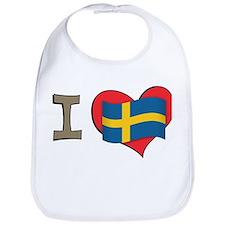 I heart Sweden Bib