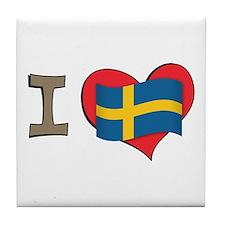 I heart Sweden Tile Coaster