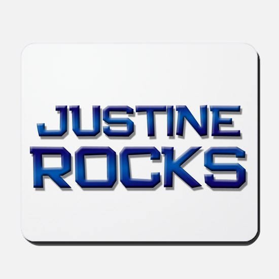 justine rocks Mousepad