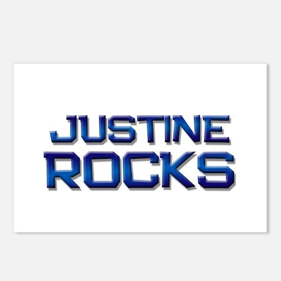 justine rocks Postcards (Package of 8)