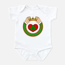 Claddagh with Heart & Shamrock Infant Bodysuit