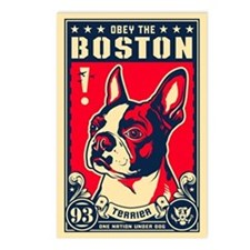 Obey the Boston! USA Postcards (Pack of 8)