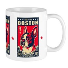 Obey the Boston Terrier! USA Freedom Small Mugs