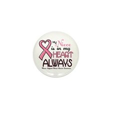 In My Heart 2 (Niece) PINK Mini Button (10 pack)