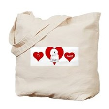 Cute Bolognese dog Tote Bag