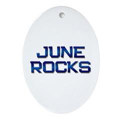 june rocks Oval Ornament