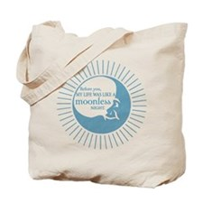 Before you - blue Tote Bag