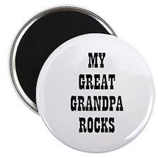 MY GREAT GRANDPA ROCKS Magnet