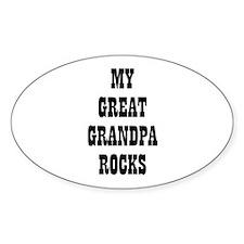 MY GREAT GRANDPA ROCKS Oval Decal