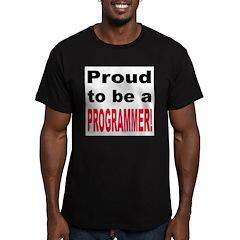 Proud Programmer Men's Fitted T-Shirt (dark)