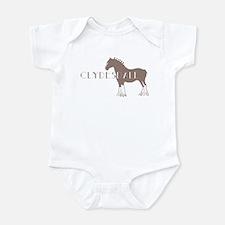 Clydesdale Horse Infant Bodysuit