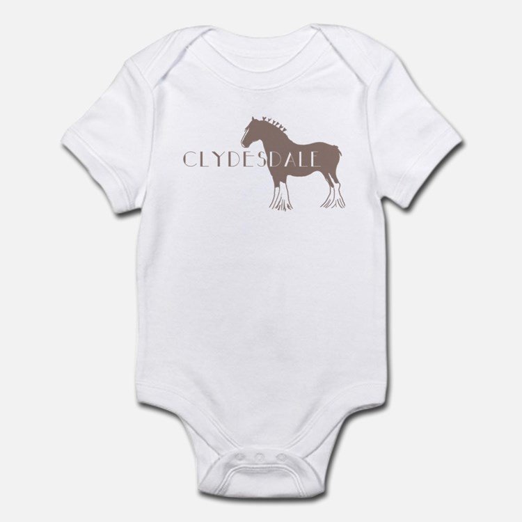 Clydesdale Horse Infant Bodysuit