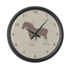 Clydesdale Horse Large Wall Clock