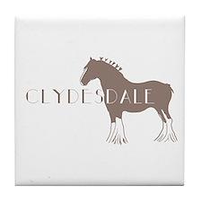 Clydesdale Horse Tile Coaster