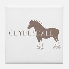 Clydesdale Horse Tile Coaster