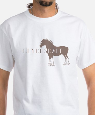 Clydesdale Horse White T-Shirt