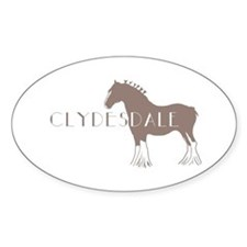 Clydesdale Horse Oval Decal