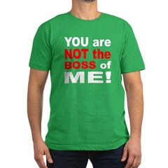 Not the Boss of Me Men's Fitted T-Shirt (dark)