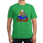 On Top of the World Cartoon Men's Fitted T-Shirt (