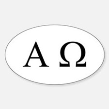"""Alpha & Omega"" Oval Decal"